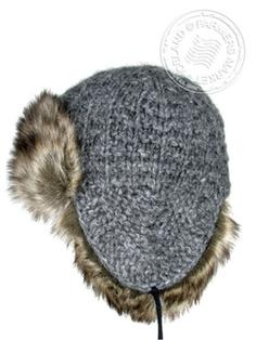 Thufa - Icelandic wool - cotton lining, faux fur hand knitted 2