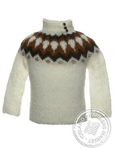 Litla-Brekka - Icelandic Wool Sweater for children 1