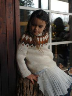 Litla-Brekka - Icelandic Wool Sweater for children 2