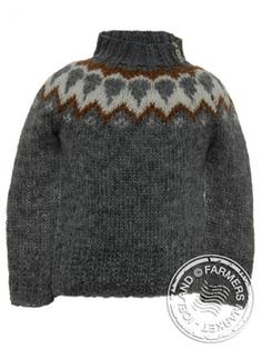 Litla-Brekka - Icelandic Wool Sweater for children 3