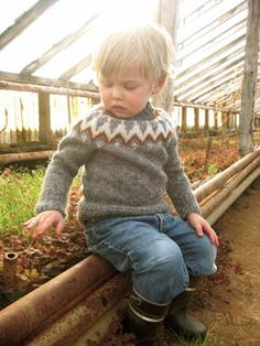 Litla-Brekka - Icelandic Wool Sweater for children 4