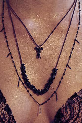 Thirteen oxidized & two 14k vertebrae